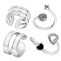 Kuta Kraft 4 Pieces Open Toe Ring for Women Girls Adjustable Toe Ring Foot Jewelry