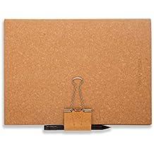Mind-Papers Karteikarten-Box, Karteibox, Karteikasten, Karteikarten-Hülle, Lernkarten-Hülle A5 Lederfasermaterial, unbeschichtet, kork