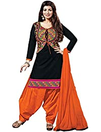 Special Mega Sale Festival Offer C&H Black Cotton Semi-Stitched Salwar Suits
