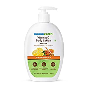 Mamaearth Vitamin C Body Lotion with Vitamin C & Honey for Radiant Skin (400 ml, All Skin Types)