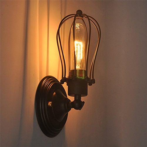 Coquimbo Industrial Retro Lampada da parete Lampada a sospensione Apparecchio a parete senza lampade (singola testa B)
