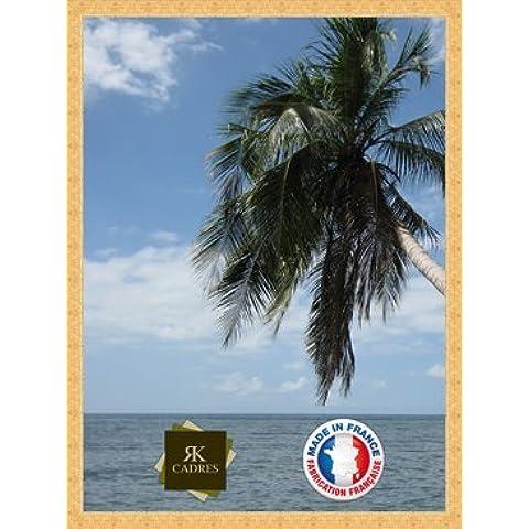 Marco de foto de la pared 50x70 / 50 x 70 marco de la foto Or Plat, 2.5 cm de ancho, Marco de madera de fotos