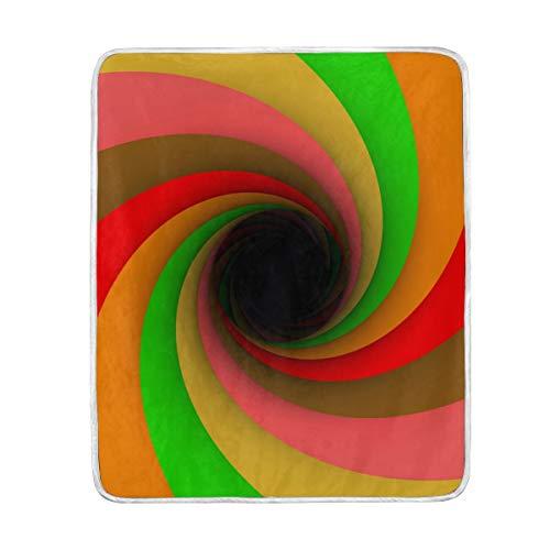 CPYang Überwurfdecke aus weichem Mikrofaser, Regenbogenfarben, 127 x 152 cm, für Kinder, Jungen, Mädchen, Damen und Herren Fleece-tie Dye Tie