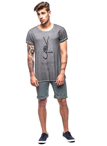 BOOM BAP WEAR Herren Yls Busted Clean T-Shirt Black