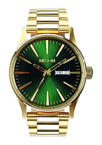 Nixon Herren Analog Quarz Uhr mit Edelstahl Armband A3561919-00