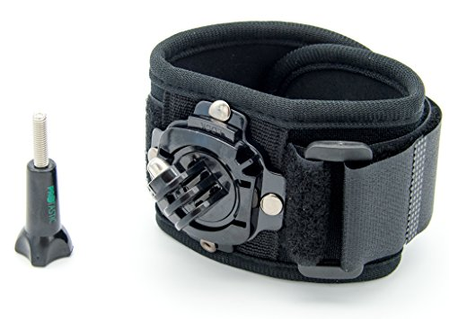 Protastic polso/caviglia fascia con rotazione a 360° per GoPro Hero, Xiaomi Mi, SJCAM e altre videocamere–Great Underwater.