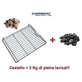 ALTIGASI CESTELLO Roccia Pietra LAVICA per BARBECUE3 & 4 Series CAMPINGAZ + 3 kg Roccia
