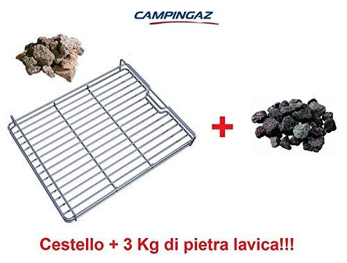 ALTIGASI CESTELLO Roccia Pietra LAVICA per BARBECUE3 & 4 Series CAMPINGAZ e 3 kg Roccia