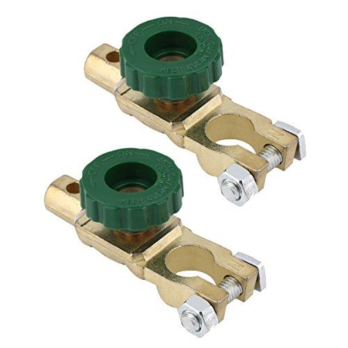 Preisvergleich Produktbild nuzamas Set von 2 KFZ Auto Motorrad Batterie Master Disconnect Isolator Terminal Cut Off Schalter Anschluss Trennschalter Batterielebensdauer verlängern