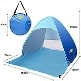 MONOJOY® Automatische Pop-up-Zelt portable Picknick Zelt Strandzelt UV-Sonnenschutz zu schützen Asyl 2-3 Pouch -