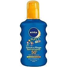 NIVEA SUN Sonnenspray für Kinder, Lichtschutzfaktor 50+, 200 ml Sprühflasche, Kids Schutz & Pflege