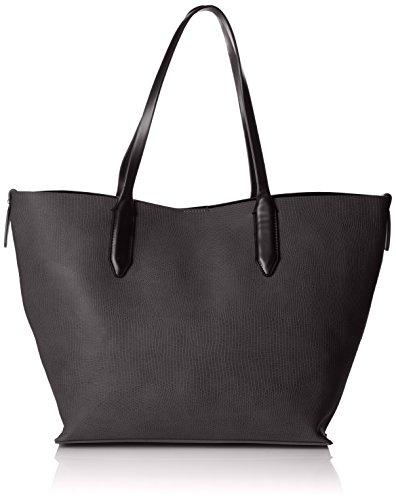 PIECES - Pcsonia Shopper, Henkeltasche Donna Nero (Black)