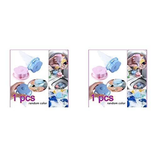Winbang Waschmaschine Lint Filters, Floating Lint Mesh Bag Hair Filter Net Taschen Wiederverwendbare Blütenform (2pc) - Flusenfilter Waschmaschine