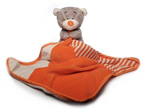 Inware 8425 - Schmusetuch Bär Brummi, grau/orange