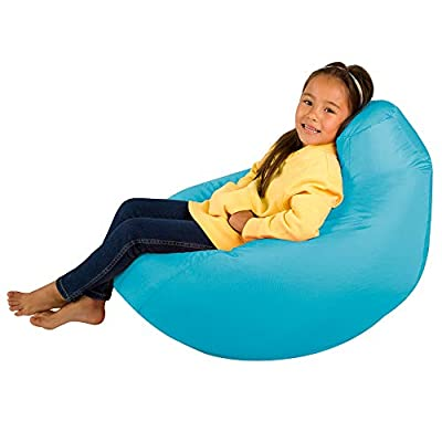 Bean Bag Bazaar Kids Gaming Chair - Large, 80cm x 70cm - Childrens Indoor Outdoor BeanBag (Aqua Blue, 2)