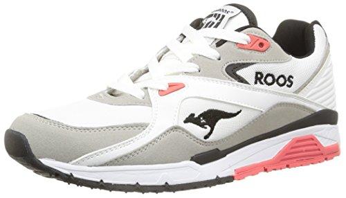 Kangaroos Runaway Roos 001, Baskets mode homme Blanc (White/Salmon 063)