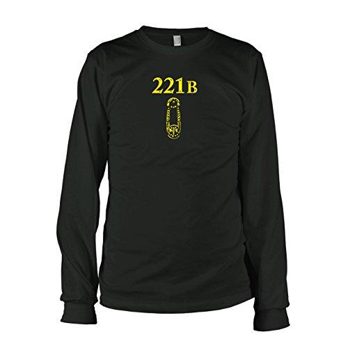 TEXLAB - Sherlock Baker Street - Langarm T-Shirt Schwarz