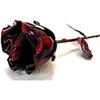 ♥ Eisen Schmiede ewige Rose Rot - Handgemacht - Ideal als Geschenk zum Muttertag, Valentinstag, für die Geliebte, Geburstag, Weihnachten und als Innendekoration by Forging Art Bcn