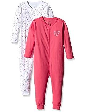 NAME IT Baby-Mädchen Schlafstrampler Nitnightsuit Zip M G Noos, 2er Pack