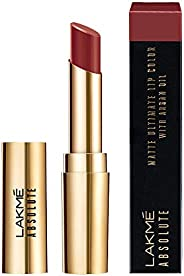 Lakme Absolute Matte Ultimate Lip Color with Argan Oil, Choco Brownie, 3.4 g