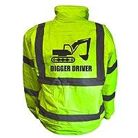 Digger Driver Bomber Jacket Hi Viz Vis Kids Bomber Joke Custom coat Child Plus a Brook Hi Vis UK Code for your next order