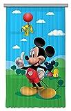 AG Design Disney Mickey Mouse Kinderzimmer Gardine/Vorhang, 1 Teil Stoff Mehrfarbig 140 x 245 cm