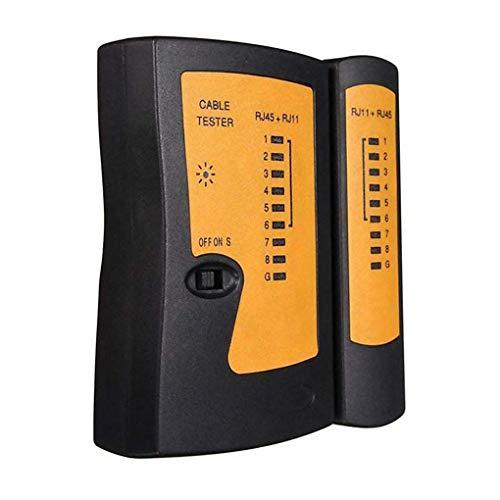 fgghfgrtgtg Gadget Netzwerk LAN-Kabeltester RJ-11 / RJ-45-Kabel-Prüfungs-Maschine DC 9V 25MA Ethernet Instrument