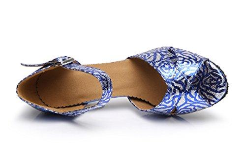 TDA ,  Damen Peep Toes Blau