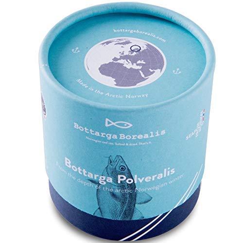 Bottarga Borealis Huevos de Bacalao Rallado 60 gramos de Las Profundidades del Ártico Noruego {Pacchetto regalo}