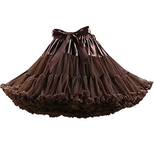 Tütü Damen Tüllrock Mädchen Ballet Tutu Rock Petticoat Unterrock Ballett Kostüm Tüll Röcke Festliche Tütüs Erwachsene Pettiskirt Ballerina Petticoat Für Dirndl Ballettrock Kaffee