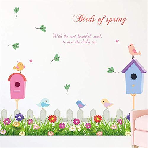 DuDuDu Wandaufkleber Abnehmbare PVC Korridor Dekoration Cartoon Nette Blume Aufkleber -