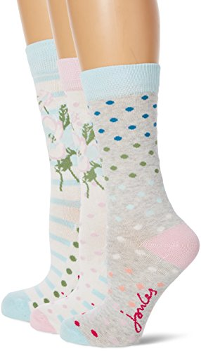 Joules Women's Brilliant Bamboo Set Casual Socks, 100 Den pack of 3