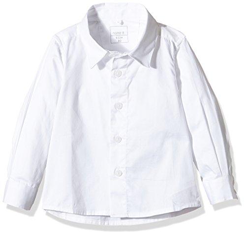 NAME IT Jungen Hemd Nitgaks M LS Shirt 216, Weiß (Bright White), 104