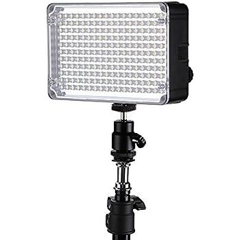 Aputure AL-H198C CRI 95+ 198 LEDs Lampe Vidéo Caméra Portable 3200K-5500K Luminosité Ajustable pour Caméra Vidéo Canon Nikon Pentax Olympus Sony