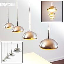 Lámpara de techo colgante LED Silcox Color Cromo & Plateado - 4x LED 4,6W alta eficiencia - Altura 140 cm ajustable cocina comedor