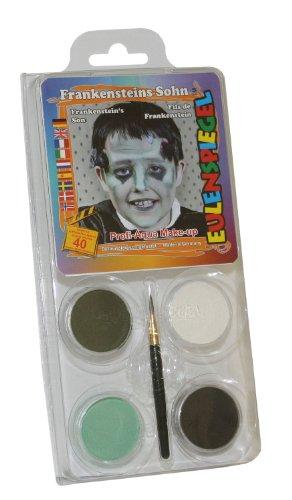 - Schminkset Frankensteins Sohn, Pinsel und Anleitung, 4 Farben (Frankenstein Kostüme Make Up)