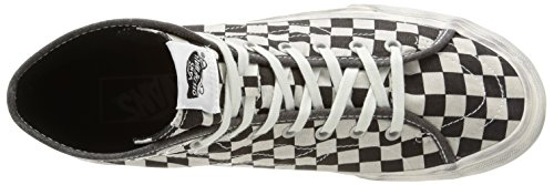 Vans U Sk8-Hi Decon Overwashed, Baskets Basses Mixte Adulte Multicolore (Overwashed/Black/Check)