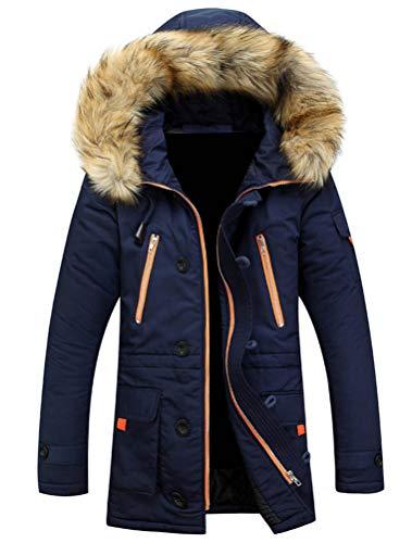 Robo giubbotti parka con cappuccio da uomo cappotti impermeabile zip up collo mao invernale,it s-l