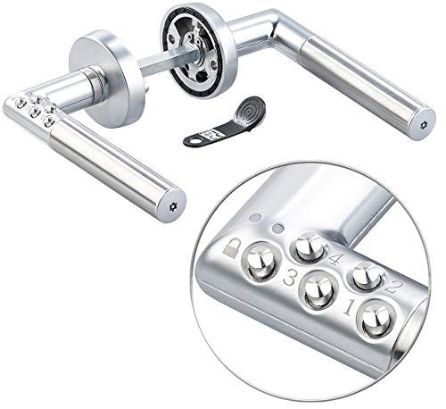 VisorTech Codeschloss: Sicherheits-Türbeschlag, 6-stelliger Code & Transponder, DIN rechts (Transponder Türschloss)