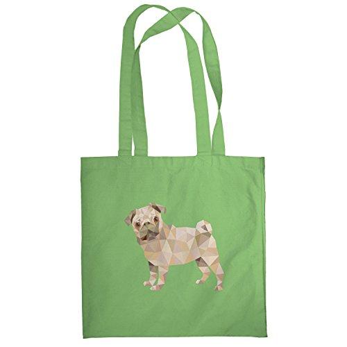Texlab–Poly Pug–sacchetto di stoffa Verde chiaro