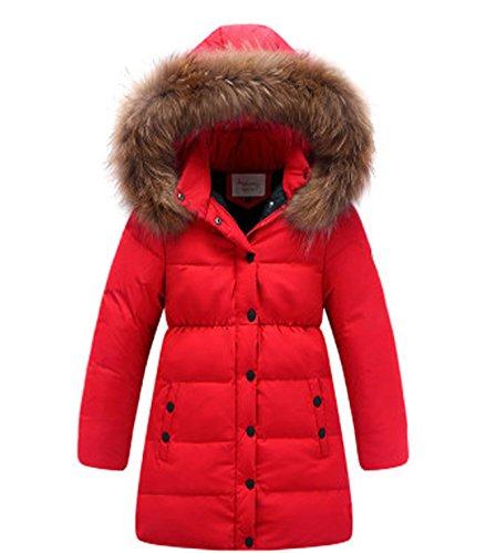 Jacke Mädchen Daunenjacke Herbst Winter Mantel mit Kapuze Wasserdicht Warm Kinder Daunenmantel Parka