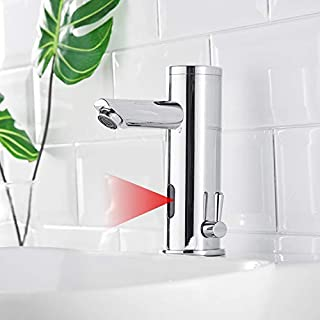 AIMADI Infrared Sensor Tap Automatic Mixer Tap for Induction Bathroom Wash Basin Mixer Tap Battery Operated Chrome