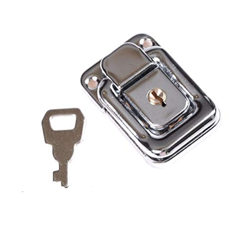 Lock With Key - 1pcs Practical J402 Cabinet Box Square Lock With Key Spring Latch Catch Toggle Locks Mild Steel - Code Master Black Card Combination Doors Lock Mini Small Shackle Outdoor