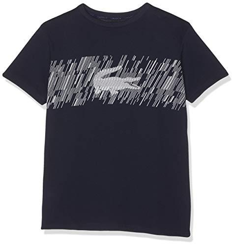 Marine-blau-kinder T-shirt (Lacoste Sport Jungen Tj6762 T-Shirt, Blau (Marine/Blanc 525), 8 Jahre (Herstellergröße: 8A))
