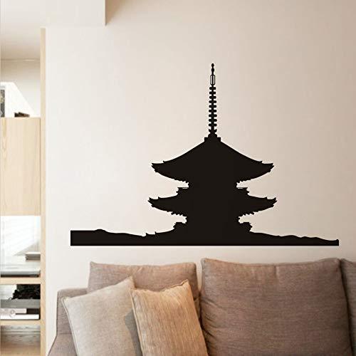 Japanische Pagode Wandaufkleber Transfer Vintage Wasserdichte Art Vinyl Aufkleber Vinilos Paredes Zubehör Wohnkultur 87 cm X 58 cm