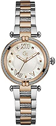 Gc Womens Quartz Watch, Analog Display And Stainless Steel Strap - Y18002L1MF