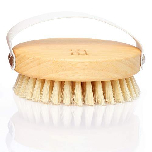 ruhi® Körperbürste rund 100{6f75ca82d85c15ed674434ee74923f087aa41761e823e14600b03cd7a1fac68a} Naturborsten gefertigt in DE plastikfrei zur Trockenbürsten Massage (dry brush), Lymphdrainage gegen Cellulite   regionales, FSC-zertifiziertes Buchenholz