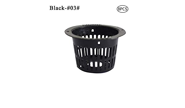 Poseca Planting Container Net Cups Slotted Mesh Heavy Duty Filter Plant Net Pot Bucket Basket For Hydroponics Garden Containers