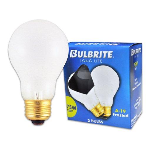 bulbrite 75A 75-watt 130-volt Lange Lebensdauer Standard Glühlampe A192er Pack, Frost -