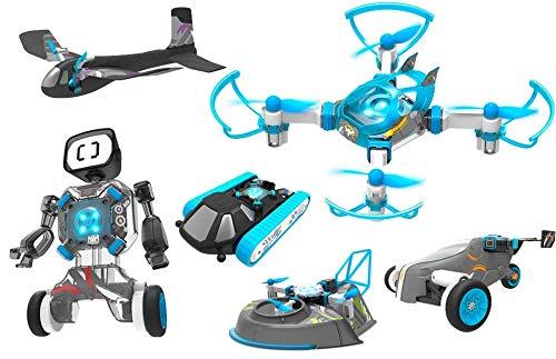 RCTecnic - Robotics 6 Juguetes en 1 | Construye 6 vehículos Inteligentes | Flight Lab Evolution | Haz tu Propio Drone, Robot, tricuclo, avión Hovercraft y Tanque.